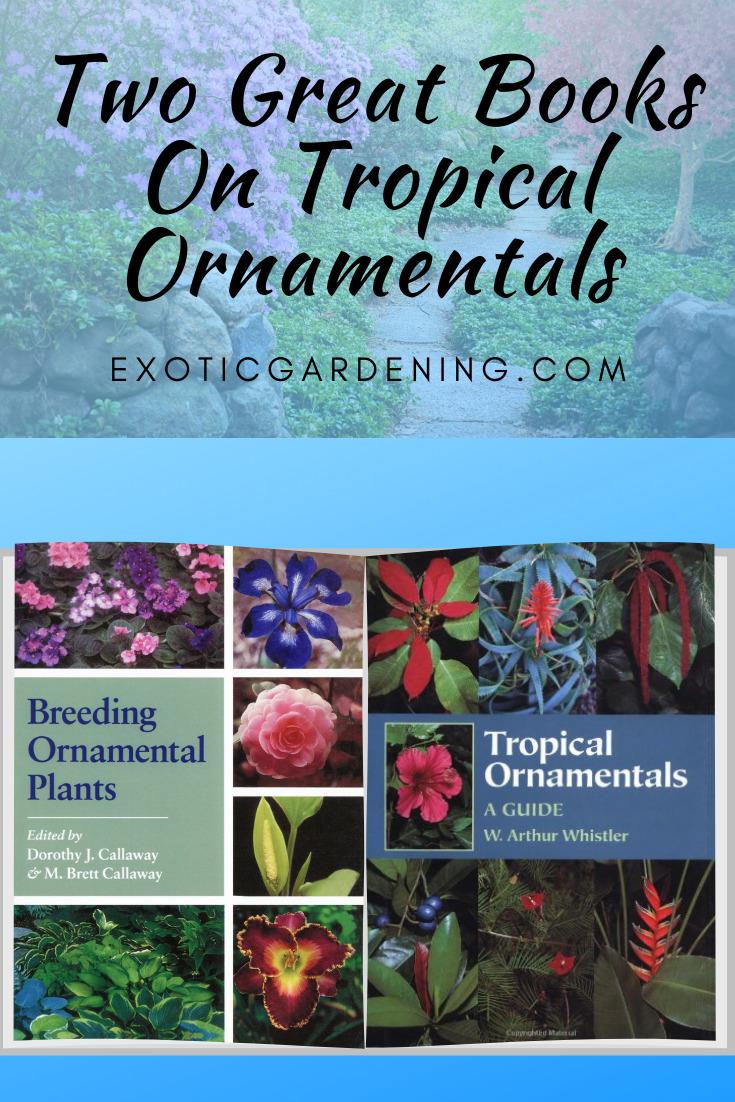 Book covers for Tropical Ornamentals and Breeding Ornamental Plants.