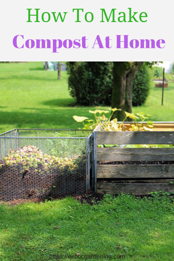 Compost bins filled with compostable material.